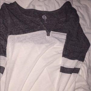 blouse grey & white